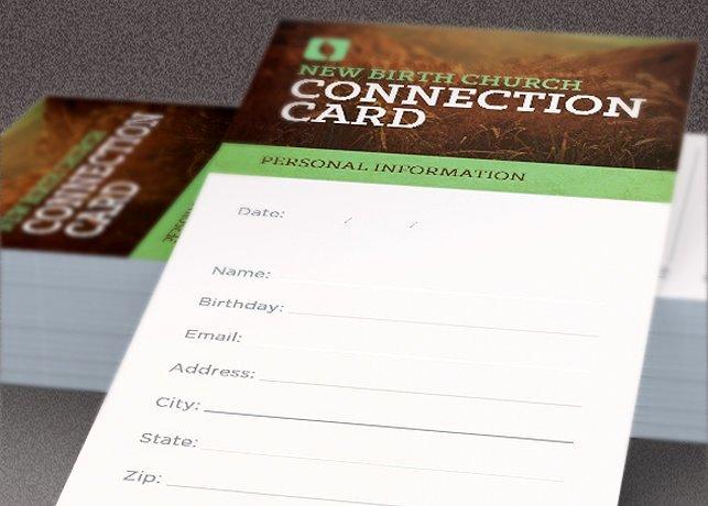 Church Connection Card Template New 8 Church Connection Card Templates