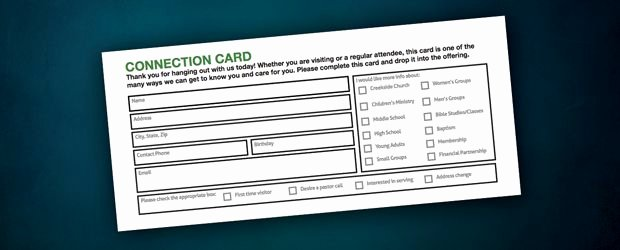 Church Connection Card Template Unique Free Stuff Connection Card
