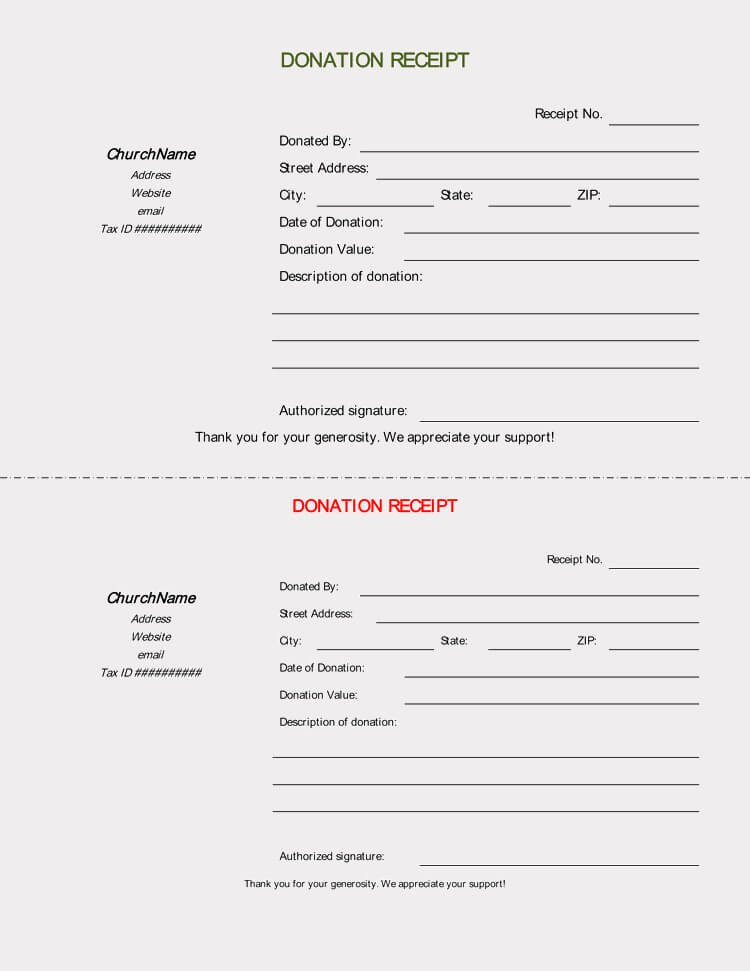 Church Donation Receipt Template Best Of 45 Free Donation Receipt Templates & formats Docx Pdf