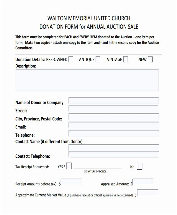 Church Donation Receipt Template Fresh 11 Donation Receipt form Sample Free Sample Example