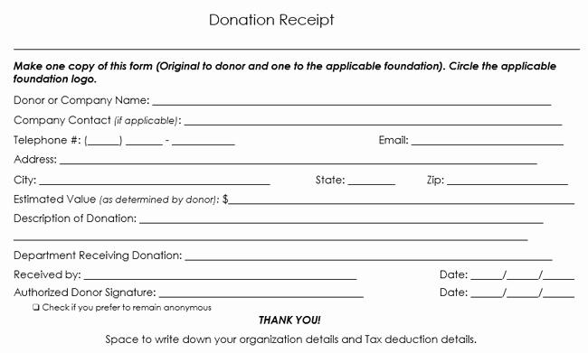 Church Donation Receipt Template Inspirational Donation Receipt Template 12 Free Samples In Word and Excel