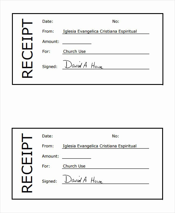 Church Donation Receipt Template Luxury 36 Printable Receipt forms