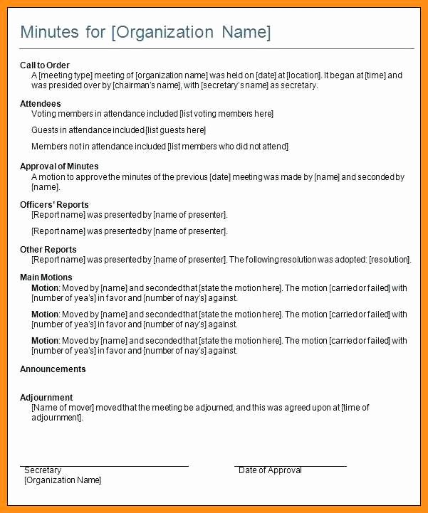 Church Meeting Minutes Template Awesome 6 7 Sample for Meeting Minutes formats