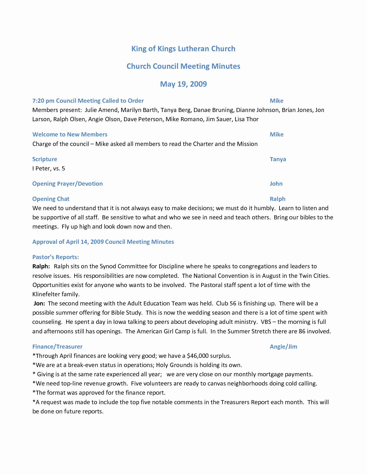 Church Meeting Minutes Template Elegant Best S Of Pentacostal Church Meeting Minutes Template