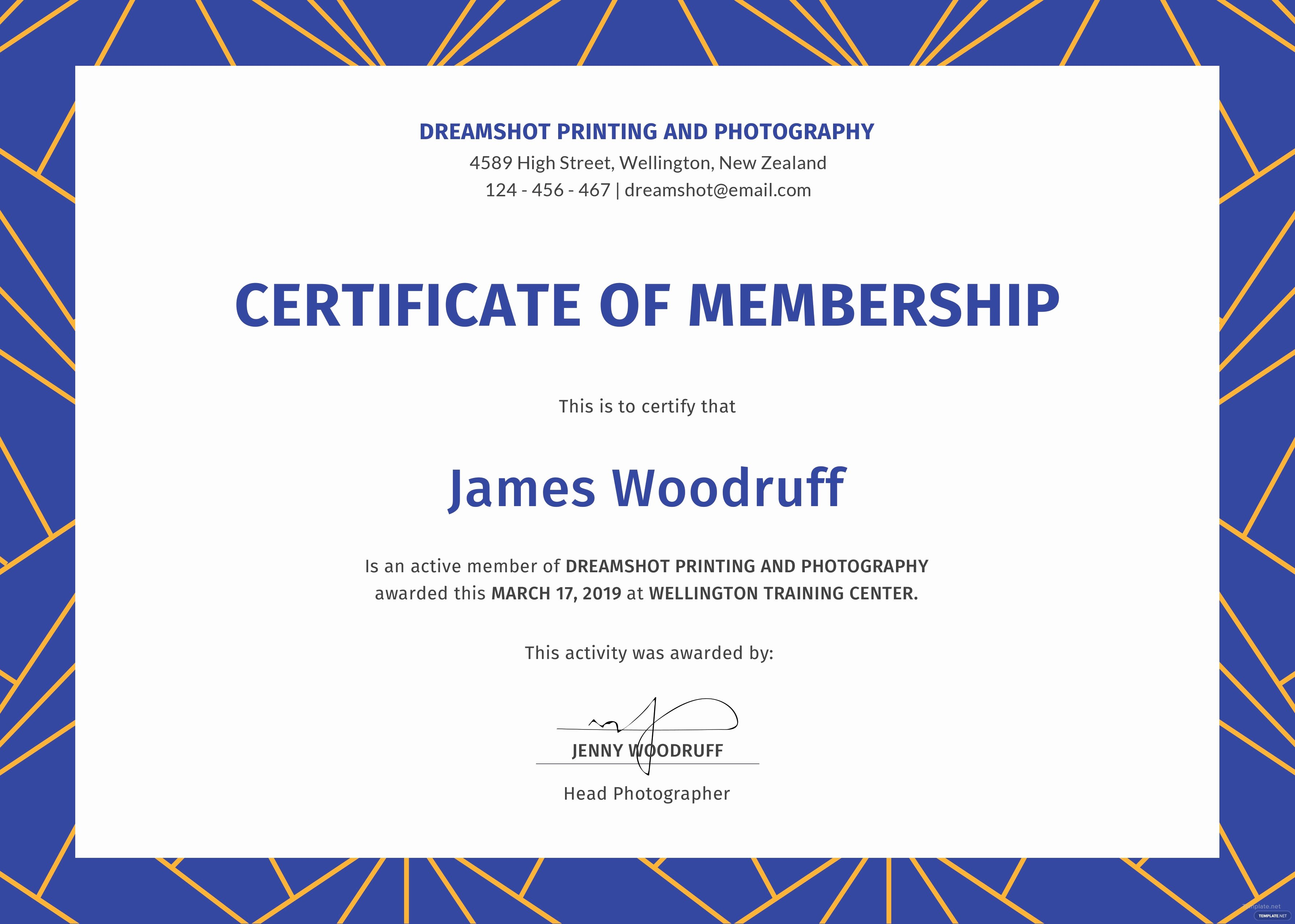 Church Membership Certificate Template Awesome Free Membership Certificate Template In Psd Ms Word