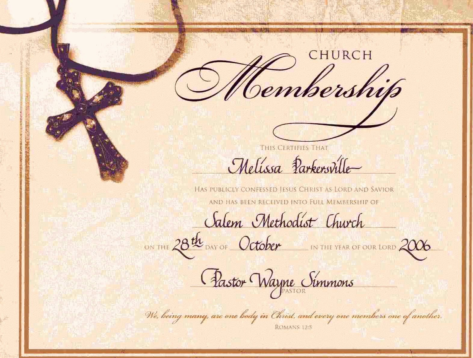 Church Membership Certificate Template Beautiful 10 Best Free Printable Church Appreciation