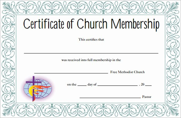 Church Membership Certificate Template Best Of 13 Sample Membership Certificate Templates