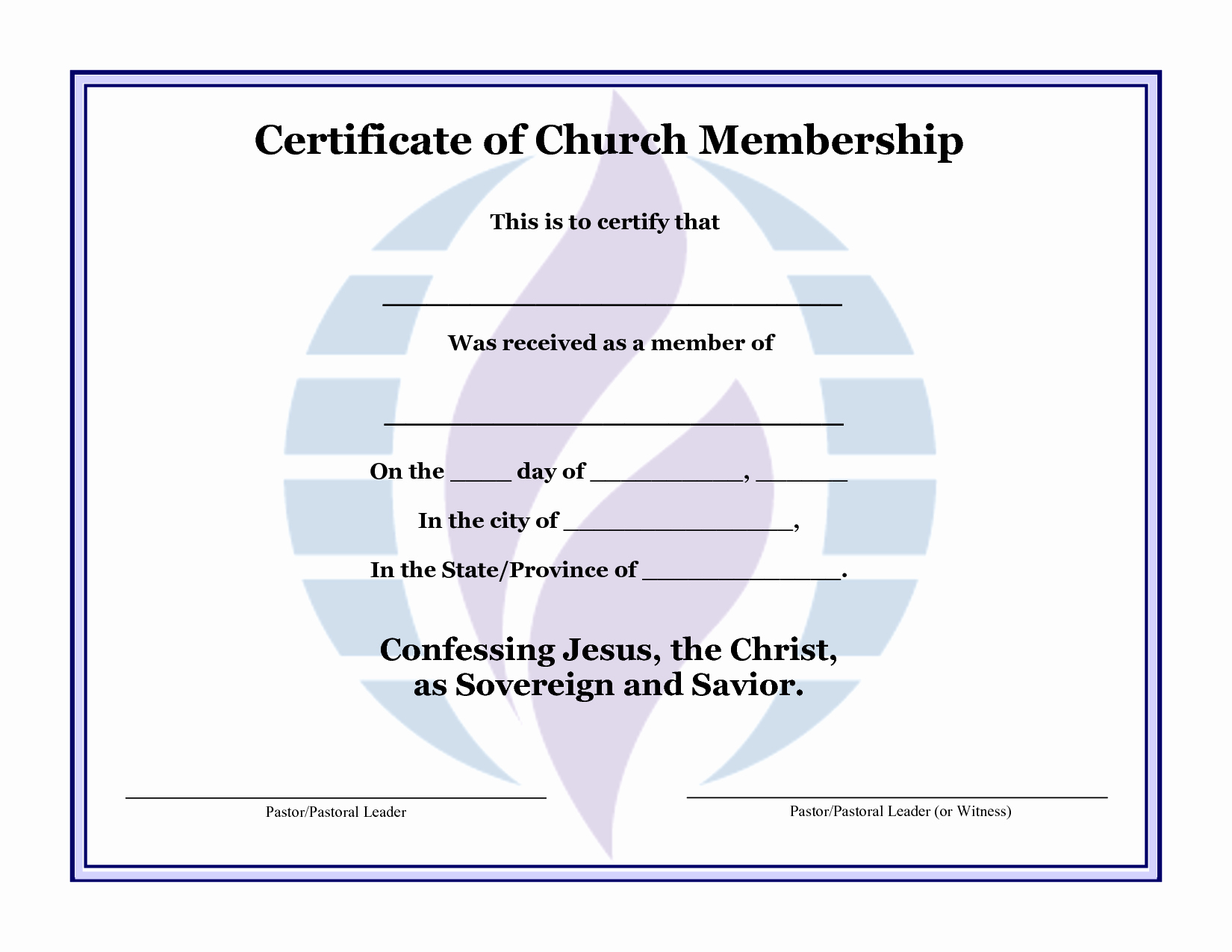 Church Membership Certificate Template Fresh Best S Of Template Church Church Usher Program