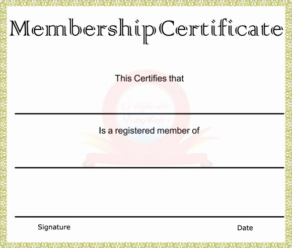 Church Membership Certificate Template Fresh Membership Certificate Template 15 Free Sample Example