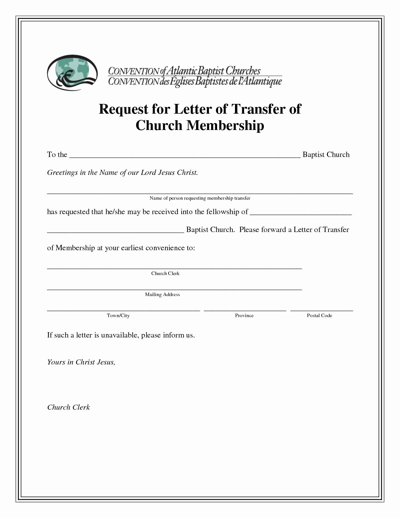 Church Membership Certificate Template Fresh Sample Church Membership Transfer Letter Template Samples