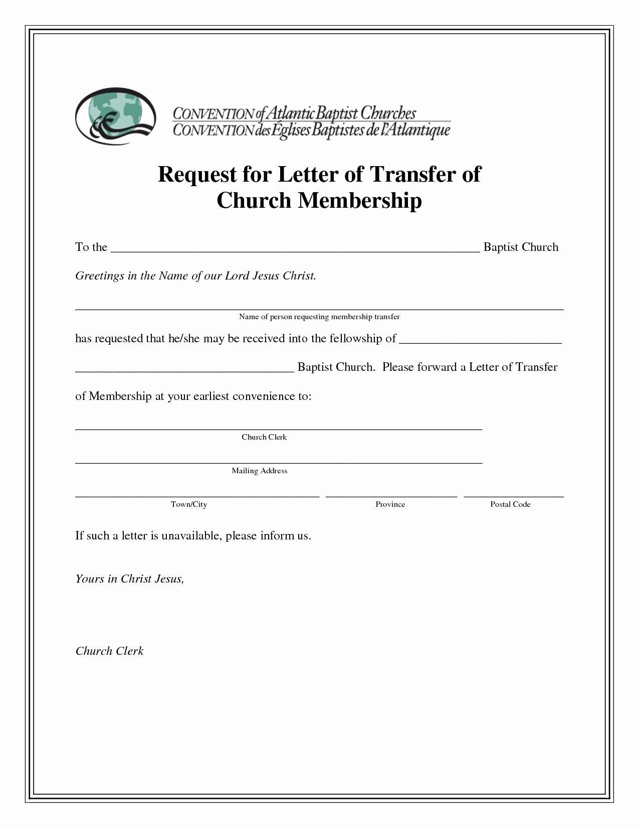 Church Membership Certificate Template Fresh Sample Church Membership Transfer Letter Template Samples