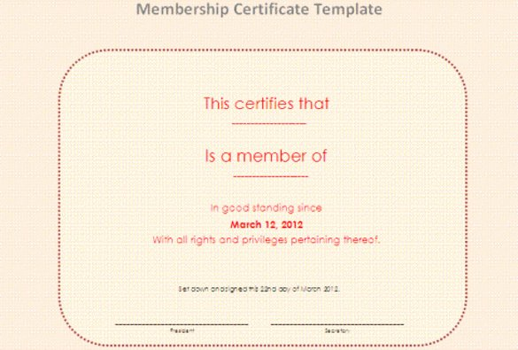 Church Membership Certificate Template Luxury 23 Membership Certificate Templates Word Psd In