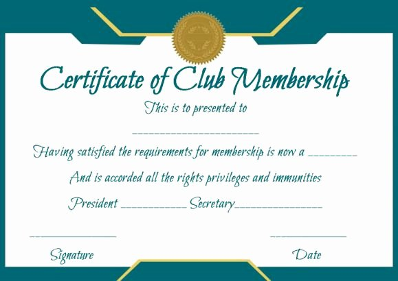 Church Membership Certificate Template Luxury Free Membership Certificates 14 Templates In Word format