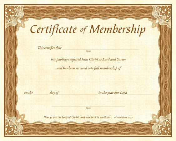 Church Membership Certificate Template New Best S Of Blank Church Membership Certificate