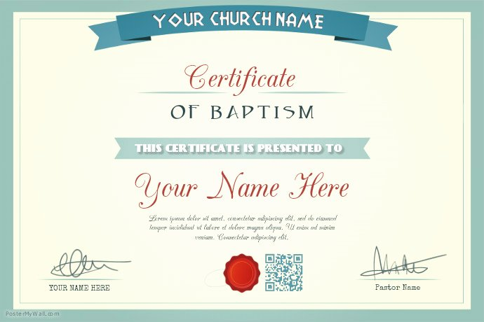 Church Membership Certificate Template Unique Church Certificate Template Baptism Wedding Appointment
