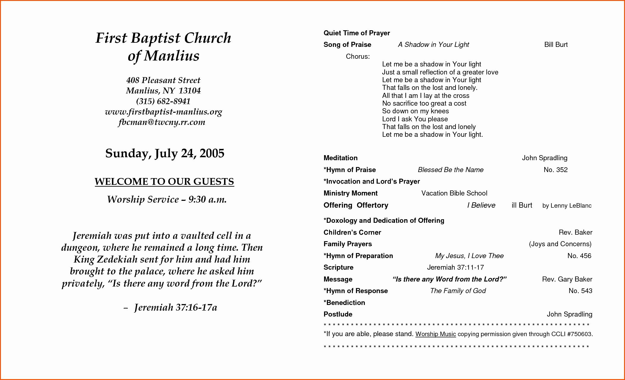 Church Program Template Word Beautiful Church Anniversary Program Template Memo Templates Word