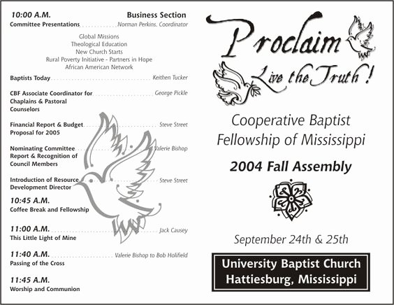 Church Program Template Word Fresh Church Program Template