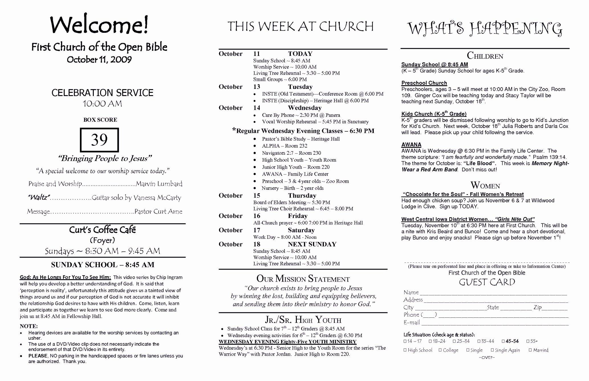 Church Program Template Word Luxury Church Brochure Template Word Free Template Update234