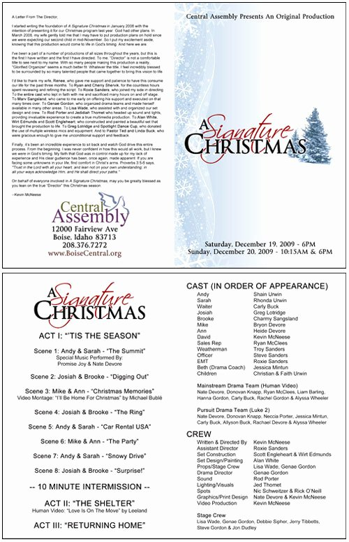 Church Program Template Word New Christmas Programs Templates for Church Templates