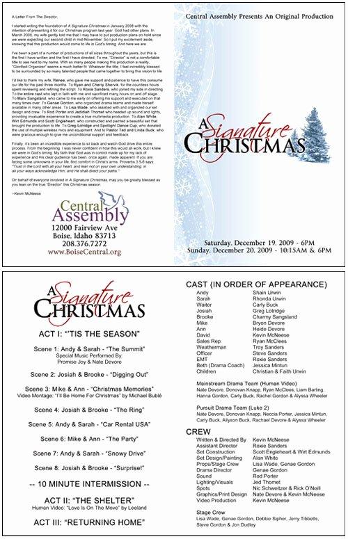 Church Program Template Word New Christmas Programs Templates for Church Templates