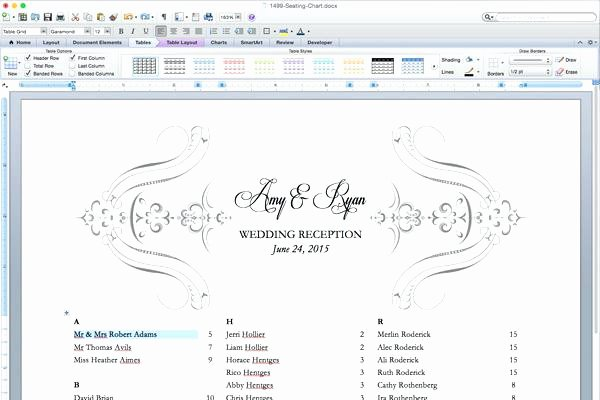Church Seating Chart Template Lovely Wedding Reception Template Downloadable Invitations Place