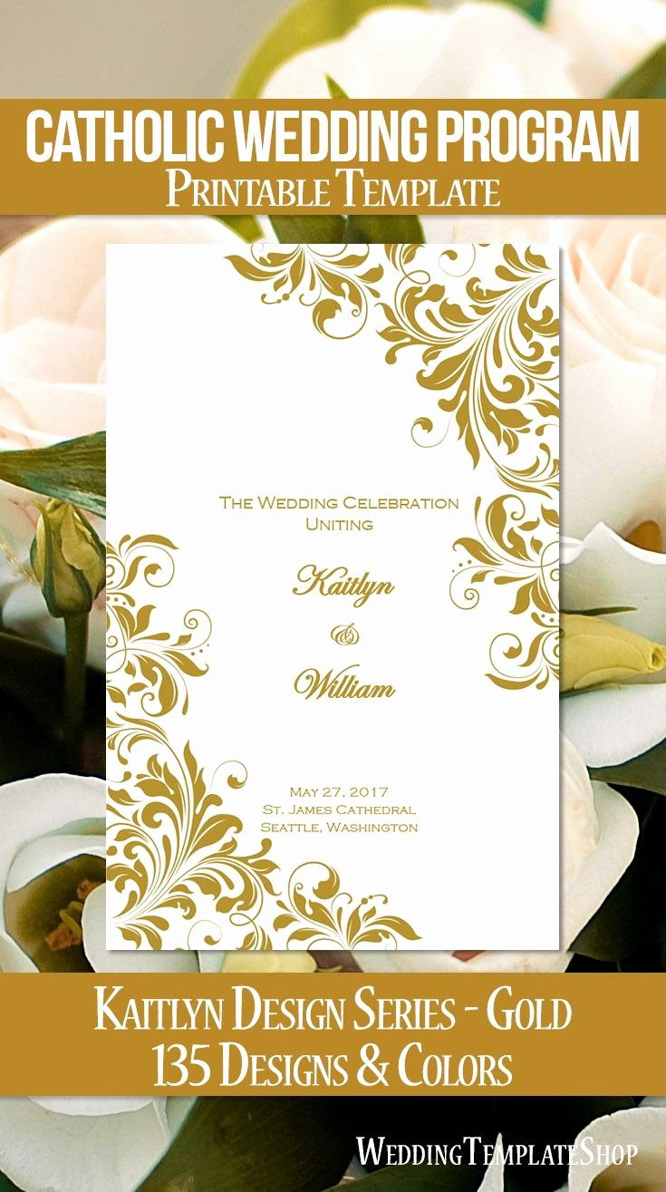 Church Service Program Template Awesome 25 Best Ideas About Catholic Wedding Programs On