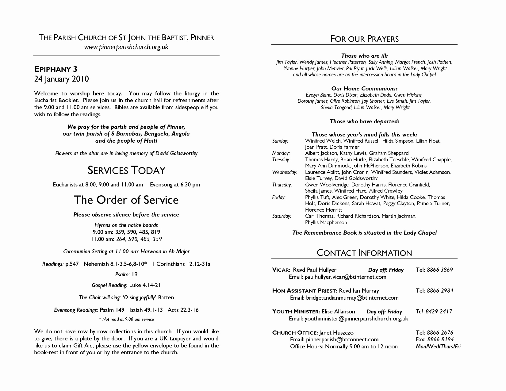 Church Service Program Template Elegant Best S Of Sample Church Programs order Service