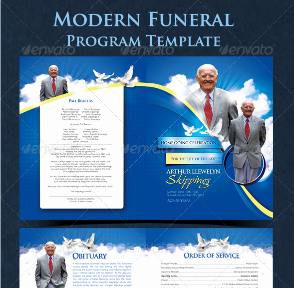 Church Service Program Template Inspirational Free Funeral Program Templates