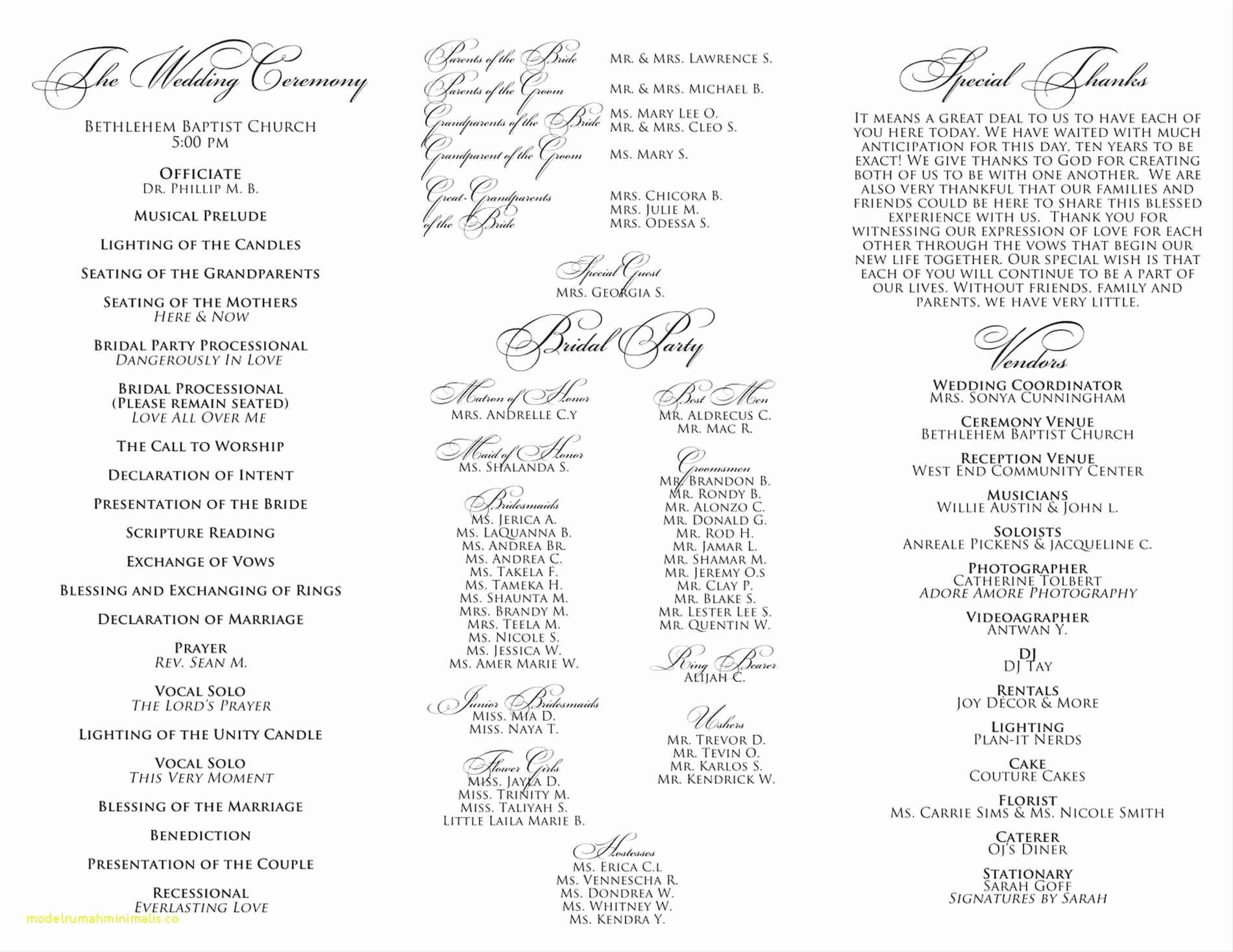 Church Service Program Template Unique Awesome Baptist Church order Service Template