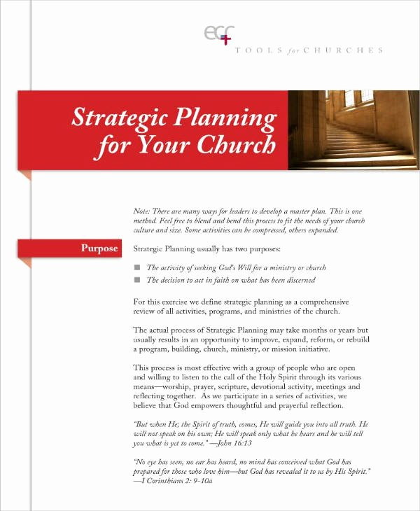 Church Strategic Planning Template Fresh 13 Church Strategic Plan Templates Pdf Word