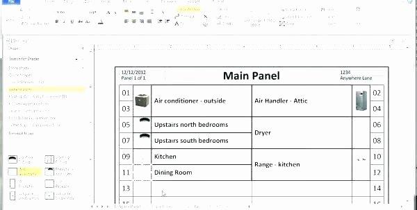 Circuit Breaker Directory Template Unique Electrical Panel Circuit Directory Template Luxury Breaker