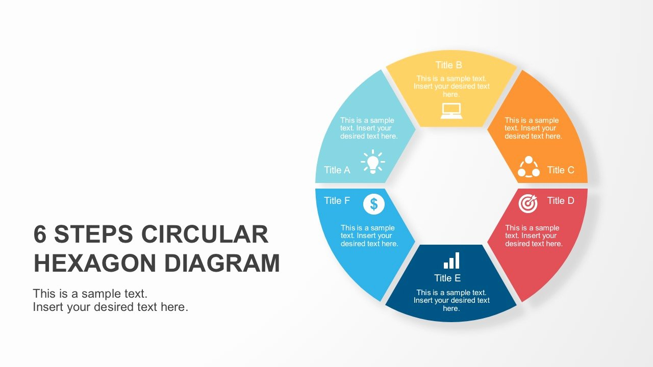 Circular Flow Chart Template Awesome 6 Steps Circular Hexagon Diagram