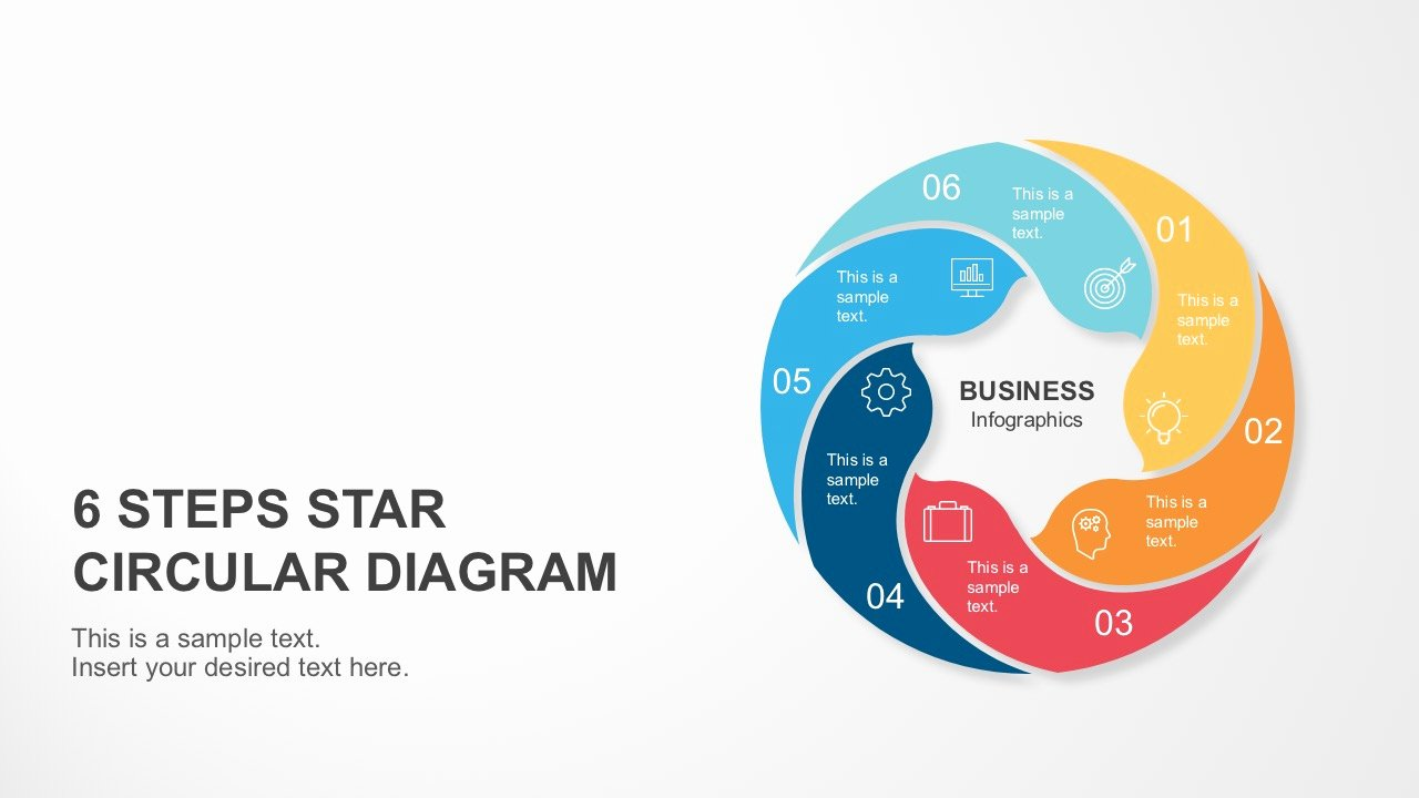 Circular Flow Chart Template Best Of 6 Steps Circle Star Diagram