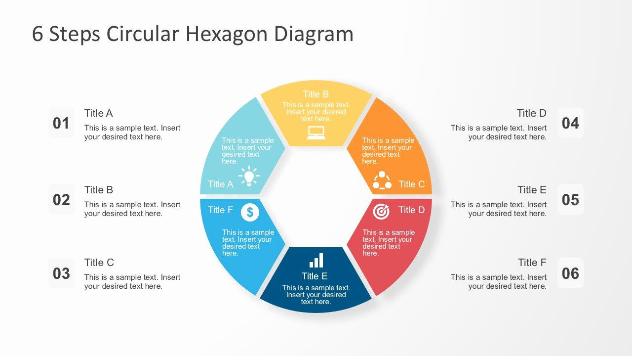 Circular Flow Chart Template New 6 Steps Circular Hexagon Diagram