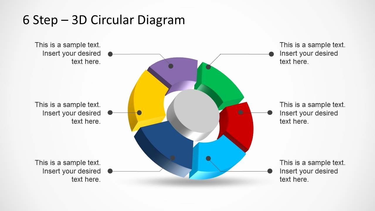 Circular Flow Chart Template Unique 6 Step 3d Circular Diagram Template for Powerpoint