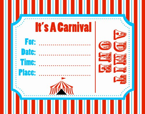 Circus Invitation Template Free Awesome 6 Best Of Free Printable Carnival Flyers Templates