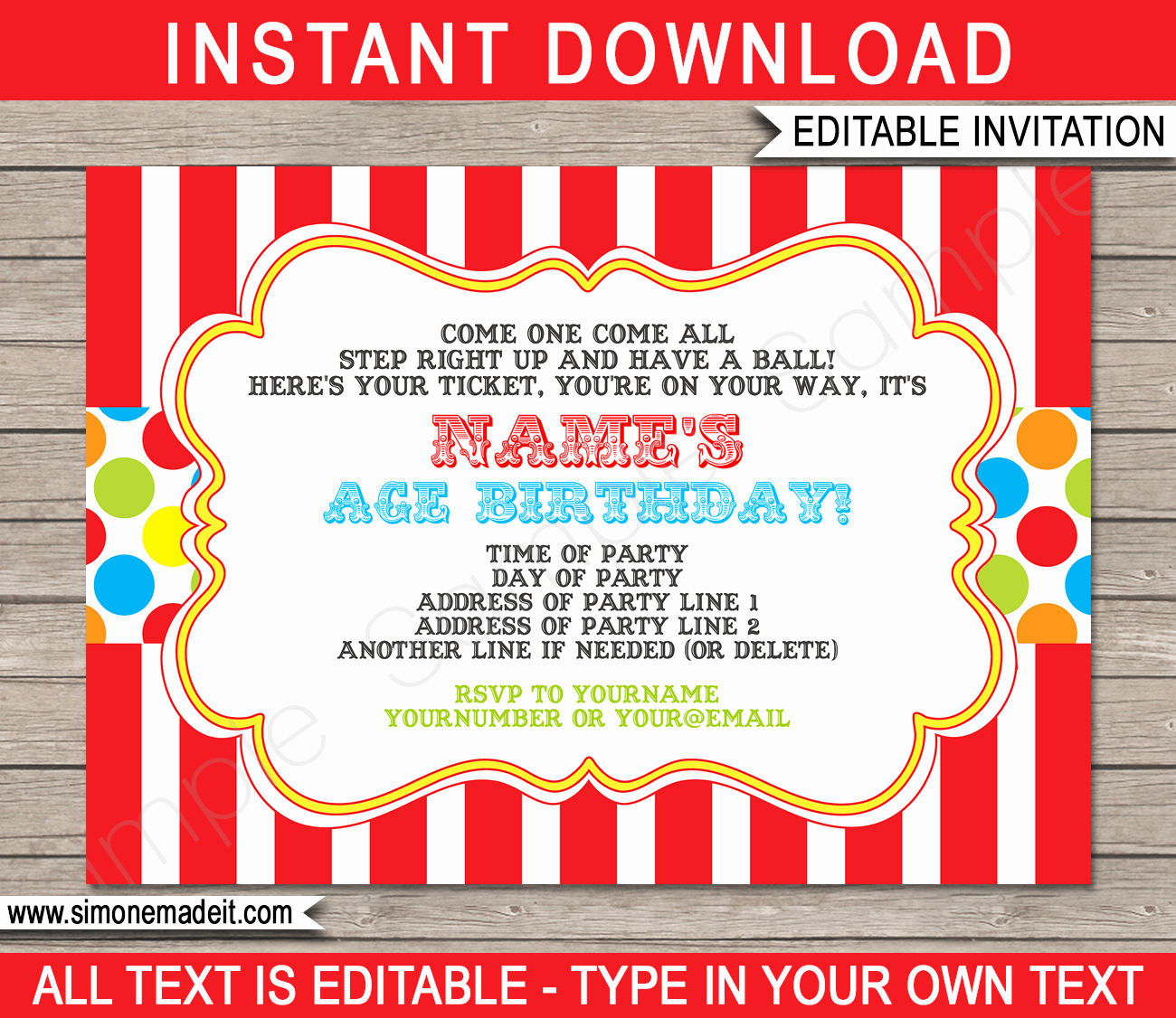 Circus Invitation Template Free Awesome Carnival Invitation Template