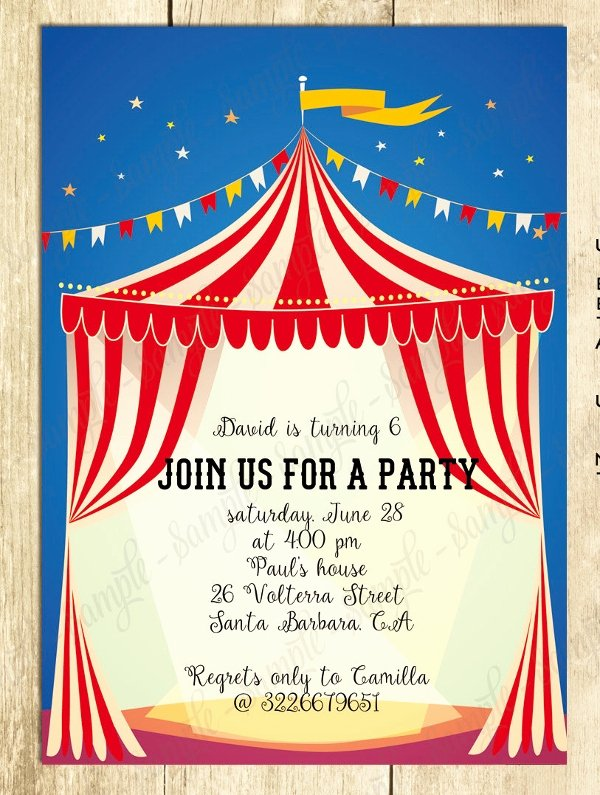 Circus Invitation Template Free Beautiful 23 Psd Carnival Invitation Templates Psd Vector Eps