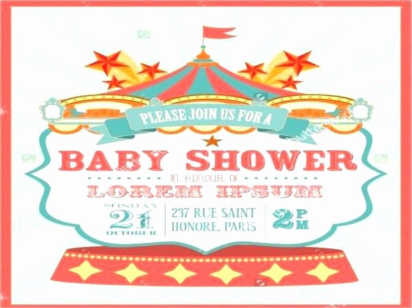 Circus Invitation Template Free Beautiful Carnival Baby Shower Invitations Carnival Baby Shower