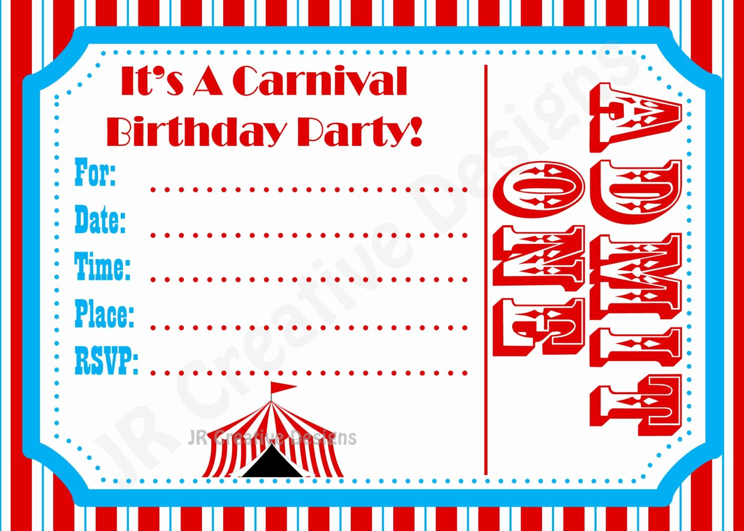 Circus Invitation Template Free Best Of Carnival Invite Circus Invite Circus by Jrcreativedesigns