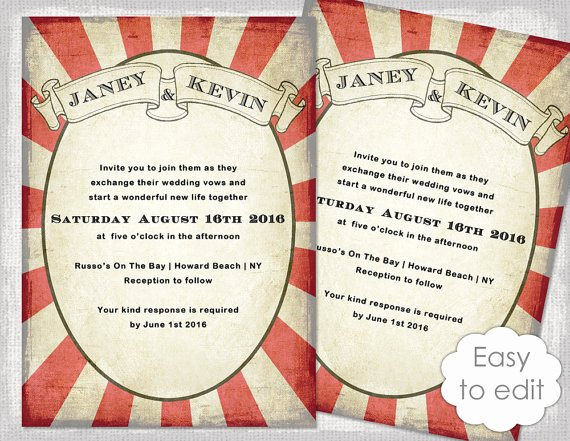 Circus Invitation Template Free Fresh Carnival Invitation Template Printable Wedding Invitations