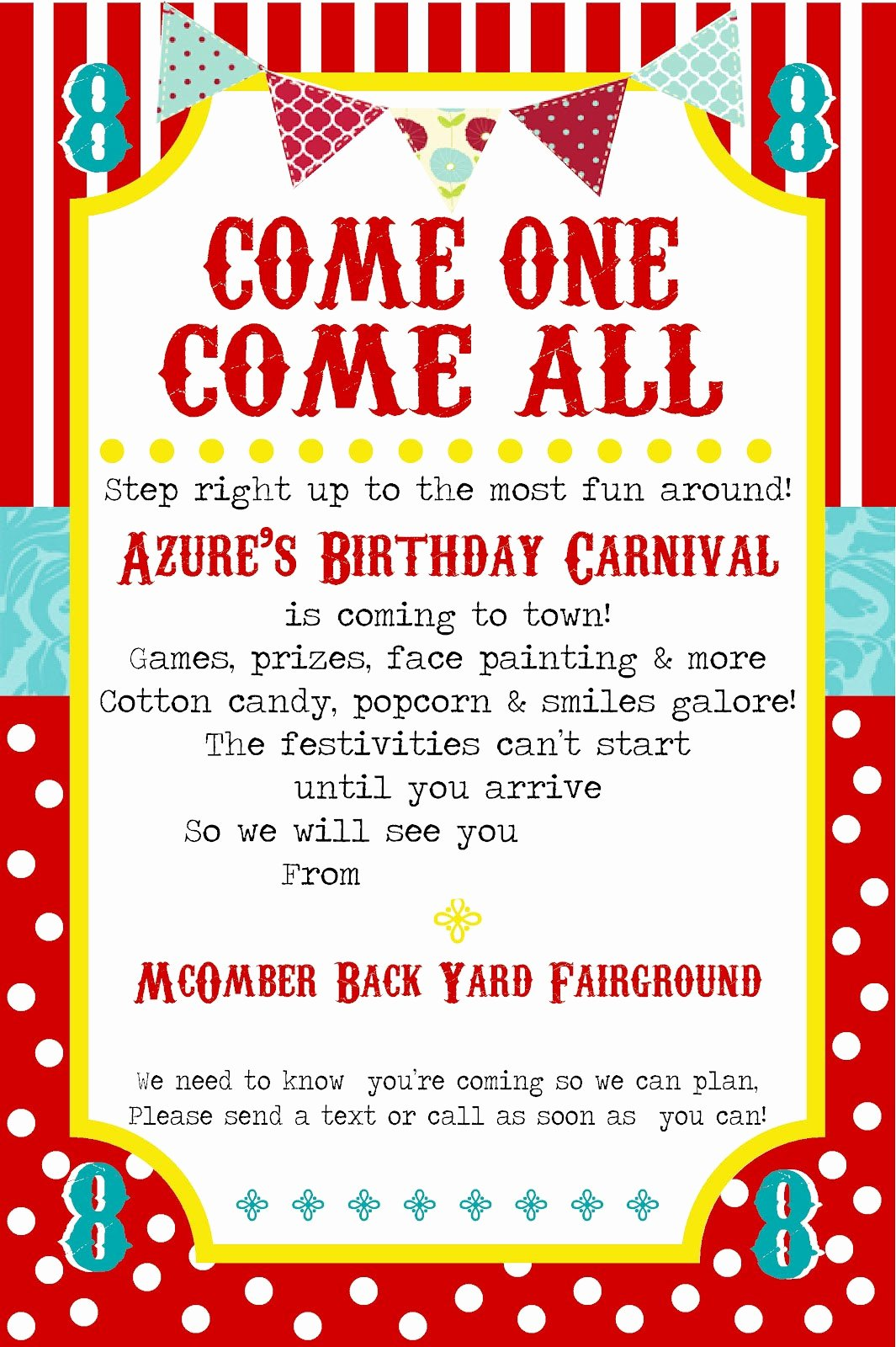 Circus Invitation Template Free Fresh Free Printable Carnival Party Invitation Template