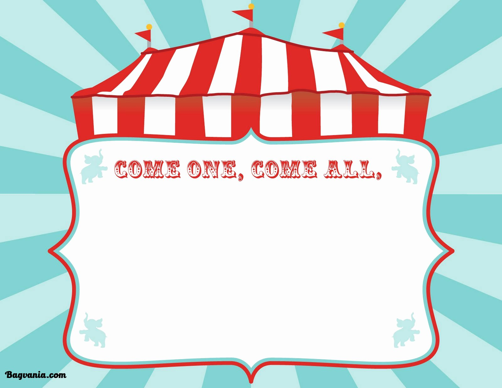 Circus Invitation Template Free Inspirational Free Printable Circus Birthday Invitations Template – Free