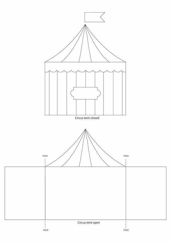Circus Invitation Template Free Lovely Circus Tent Template Sirkus On Pinterest Clowns Circus