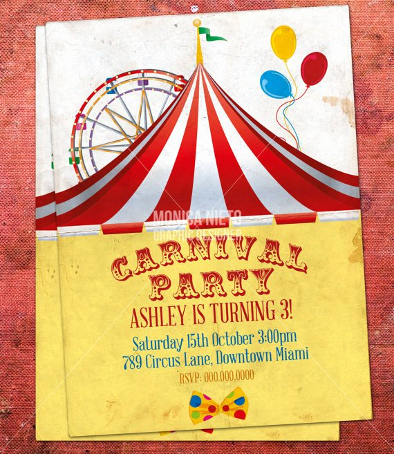 Circus Invitation Template Free Luxury 8 Best Of Free Carnival Printable Birthday