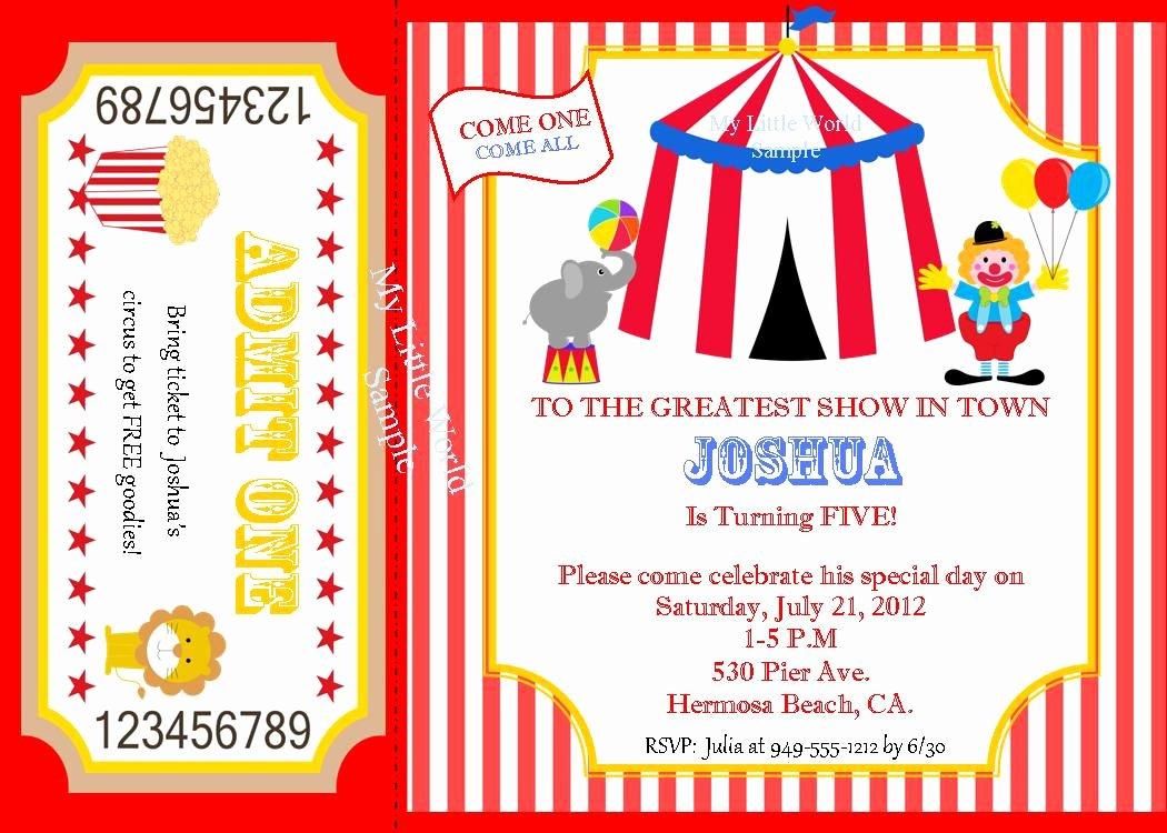 Circus Invitation Template Free Unique Circus Invitation Circus Birthday Invitation by Skspartystudio
