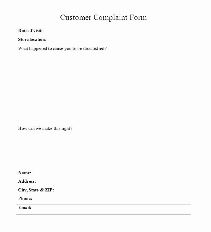 Civil Complaint Template Word Best Of Plaint form Template Customer Plaint form Template