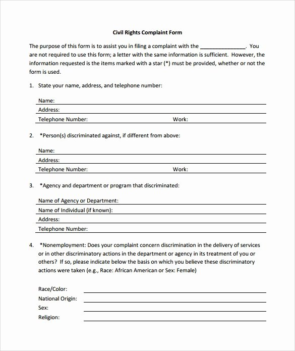 Civil Complaint Template Word Best Of Sample Civil Plaint form Sarahepps
