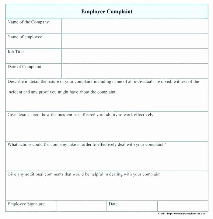 Civil Complaint Template Word Fresh Employee Plaint form Template Ual Harassment Monster