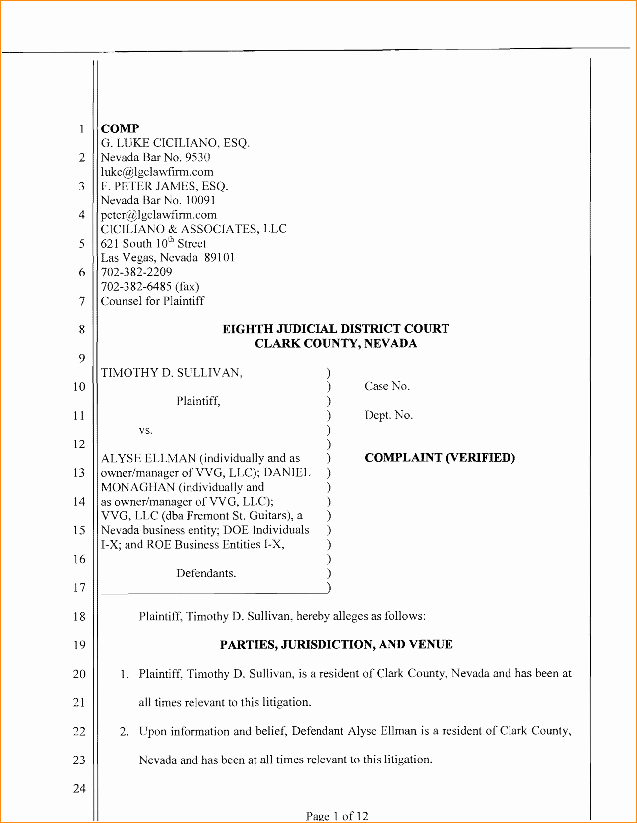 Civil Complaint Template Word Unique Civil Plaint Template Portablegasgrillweber